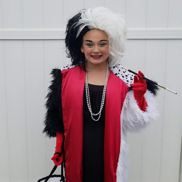 One Of A Kind Costumes Disney Girls Cruella De Vil Costume Fur